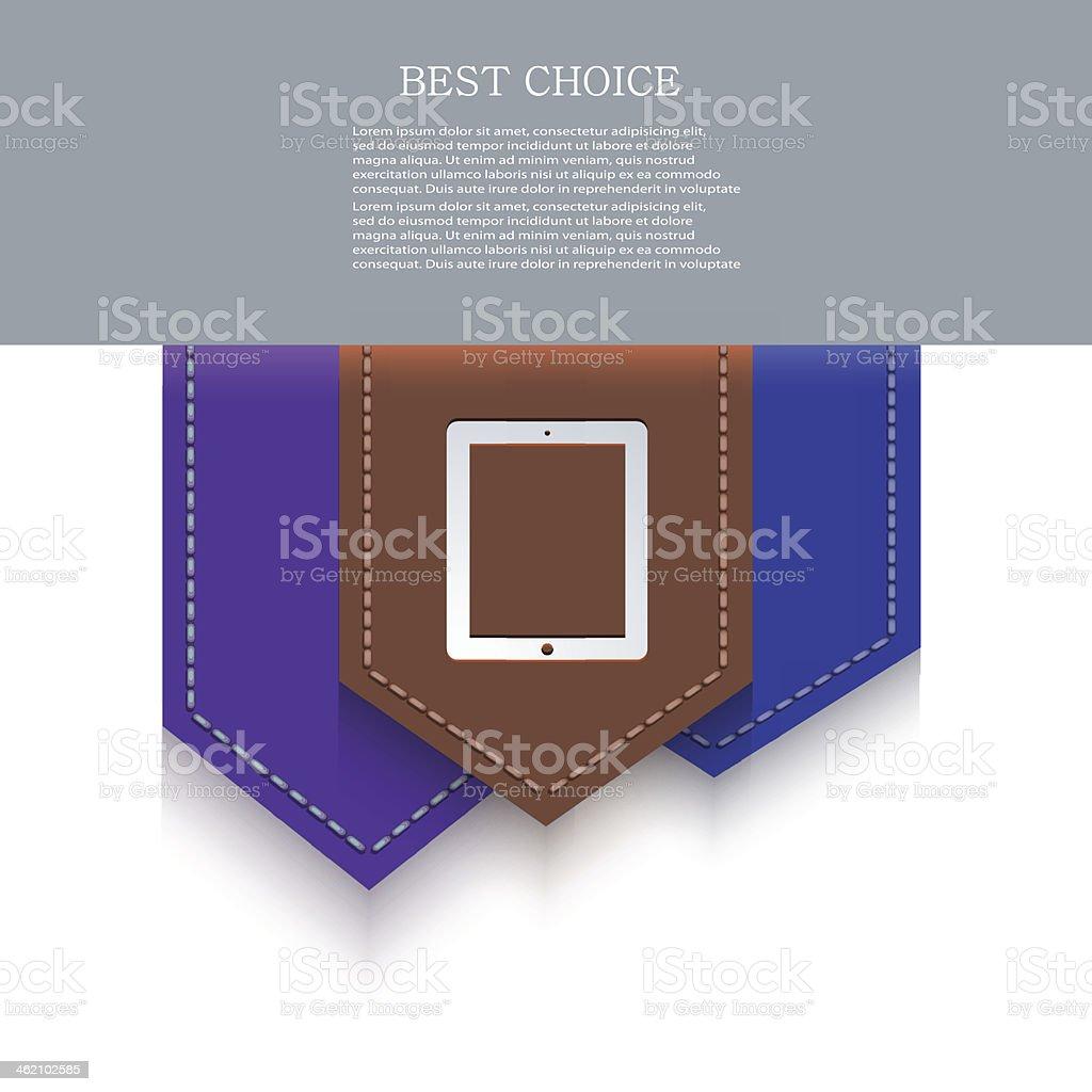 Vector bookmark icon. Eps10 royalty-free stock vector art