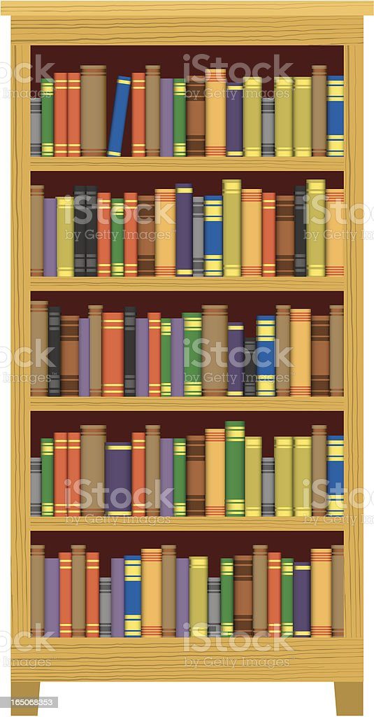 Vector Books in Bookcase royalty-free stock vector art