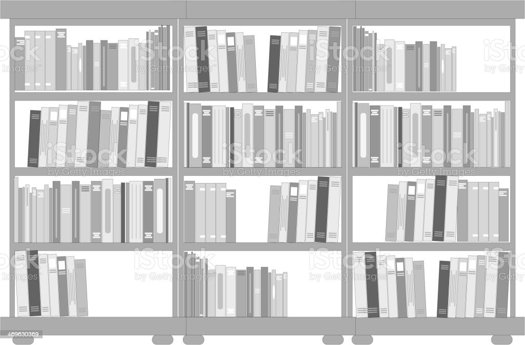 vector bookshelf royalty-free stock vector art