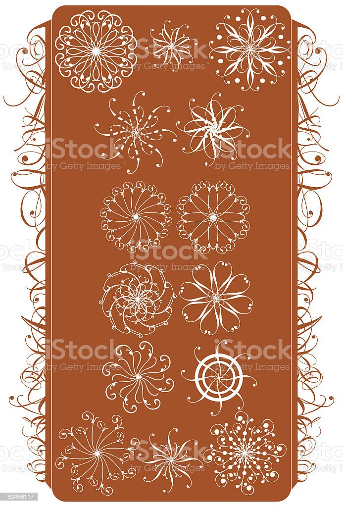 Vector Border and Flowers royalty-free stock vector art