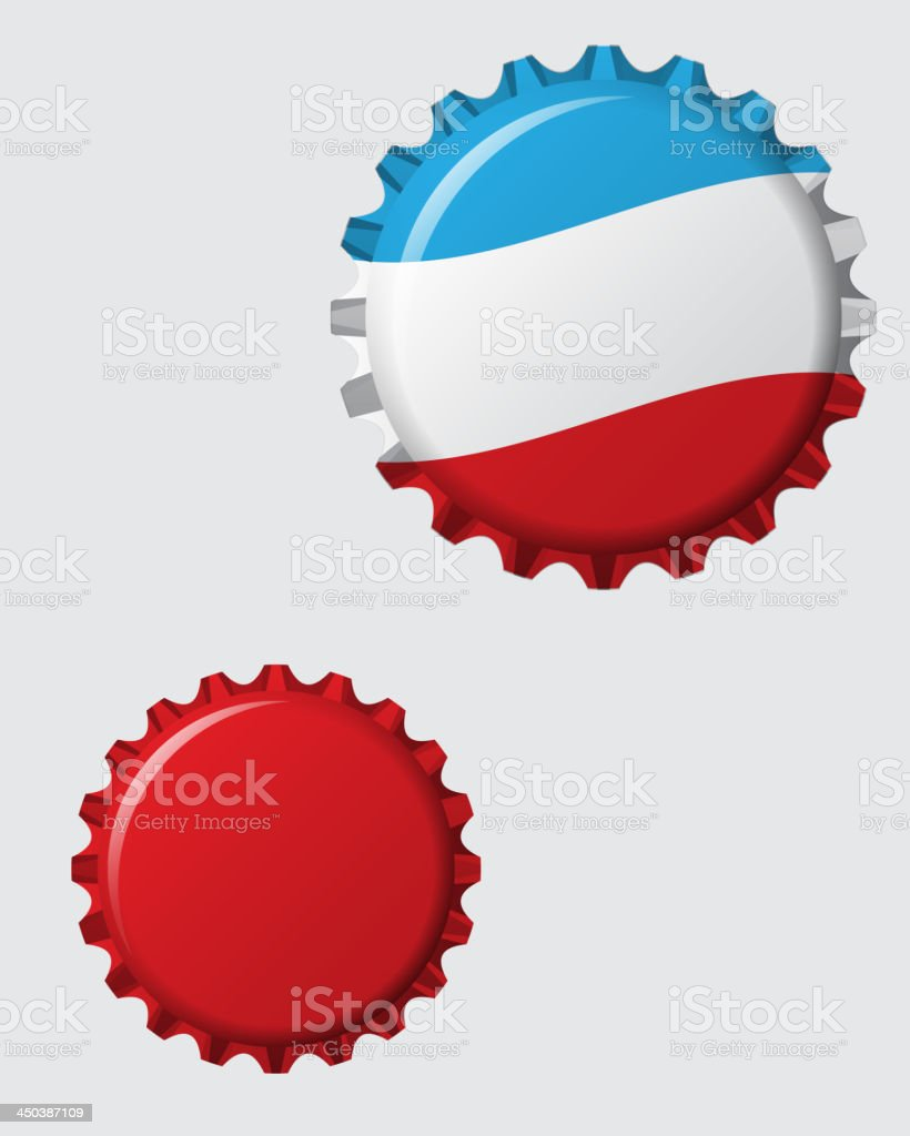 vector bottle cap vector art illustration