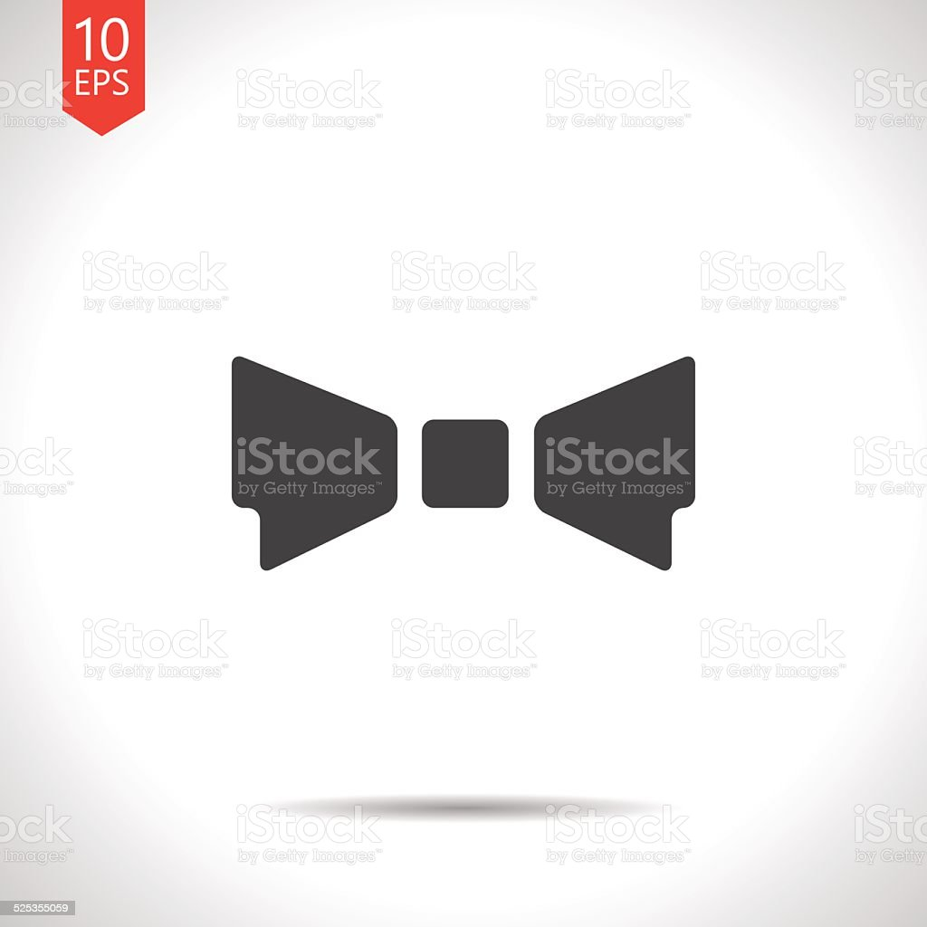 Vector bow-tie icon. Eps10 vector art illustration