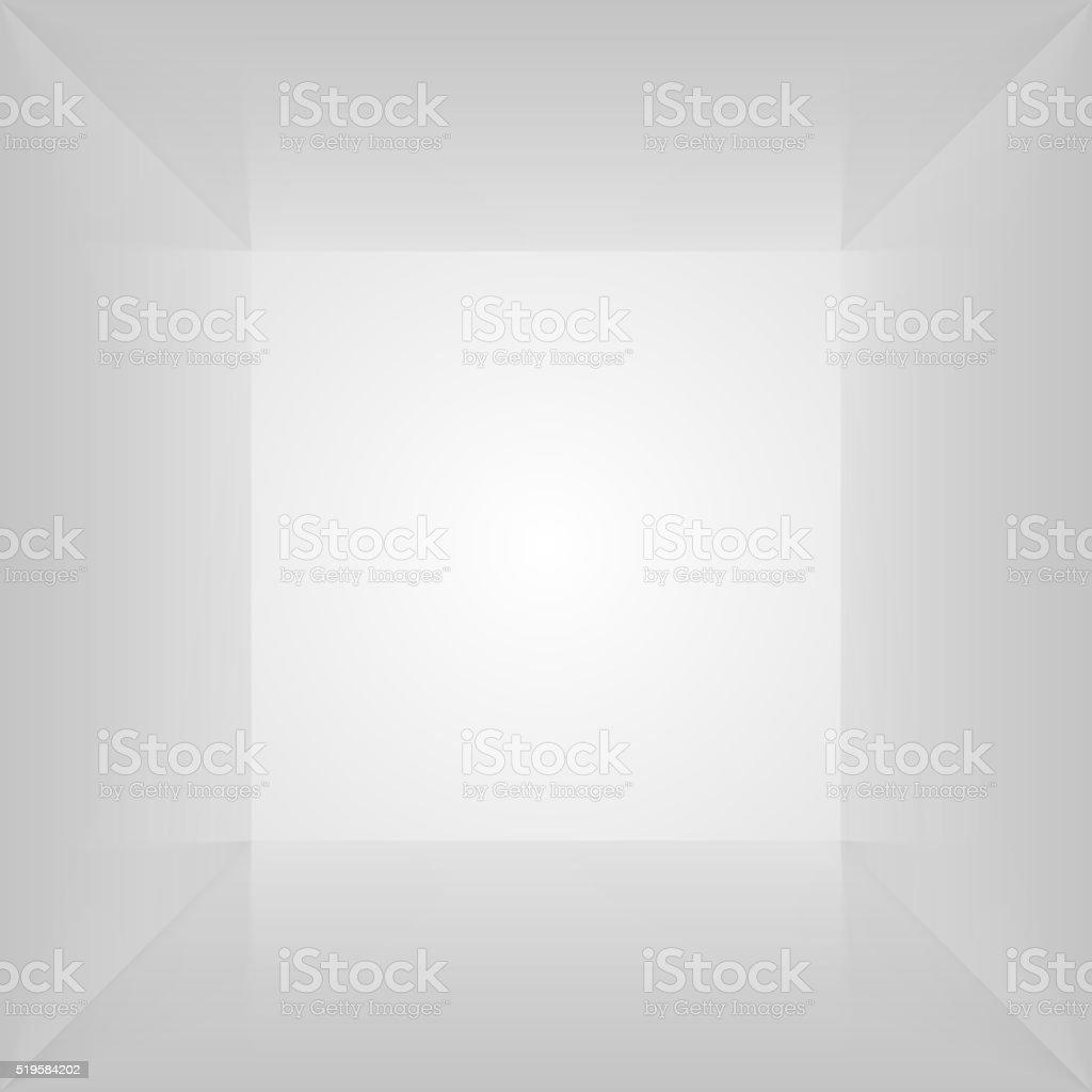 Vector box. Empty interior space. Photobox vector art illustration