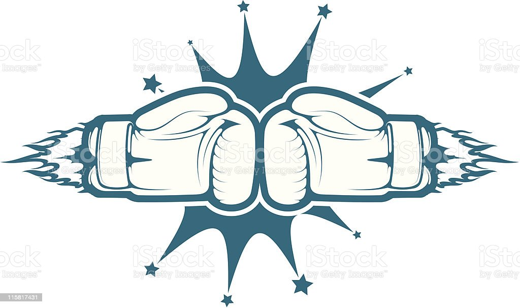 vector boxing gloves royalty-free stock vector art
