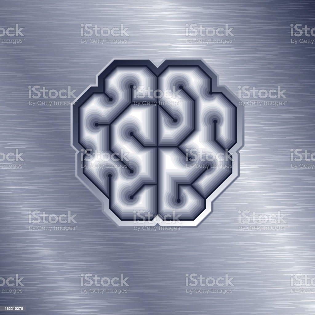 Vector Brain vector art illustration