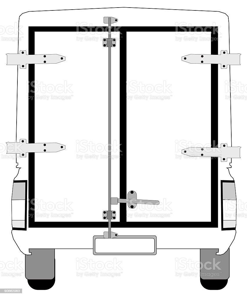 Vector Branding Vehicle - Rear royalty-free stock vector art