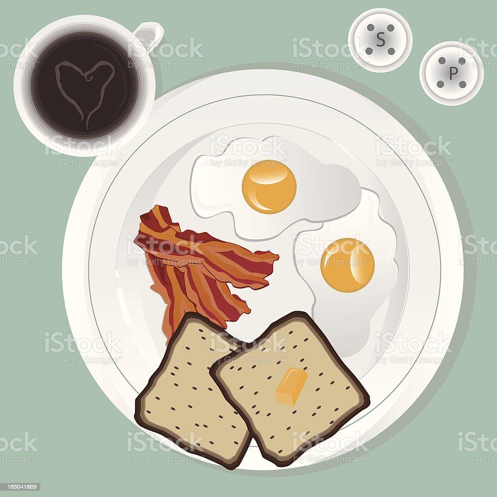 Vector Breakfast royalty-free stock vector art