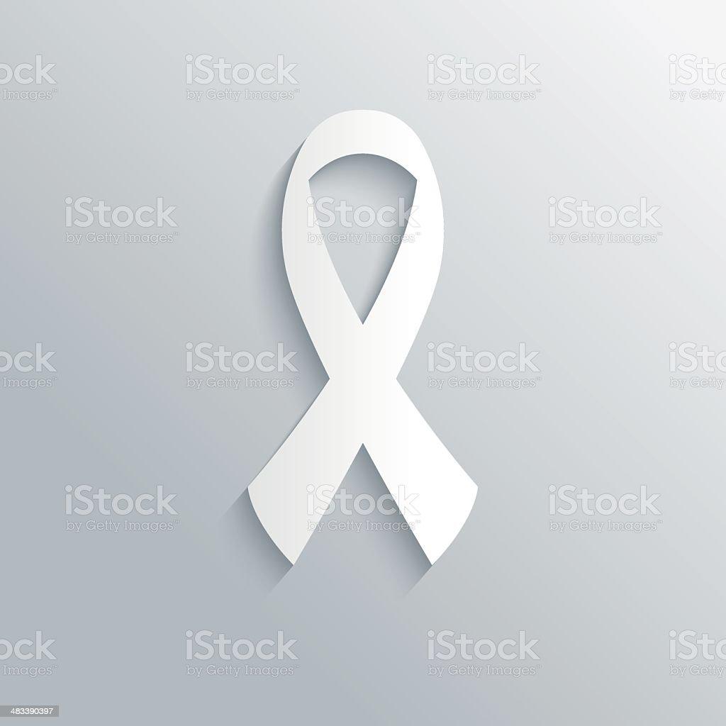 Vector  breast cancer ribbon vector art illustration