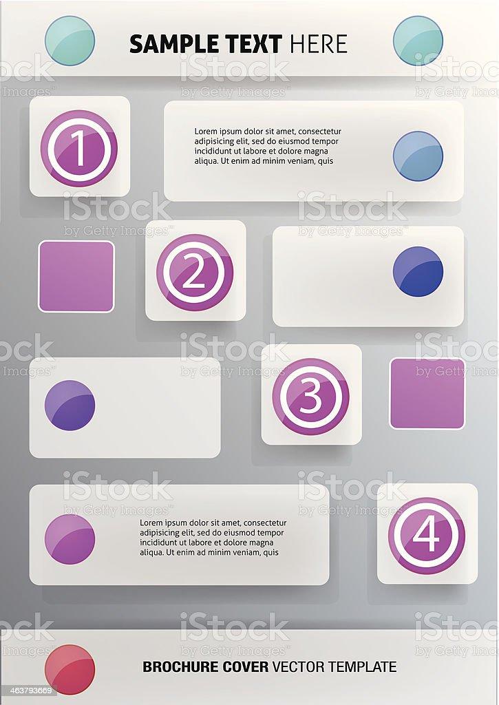 Vector brochure cover template royalty-free stock vector art