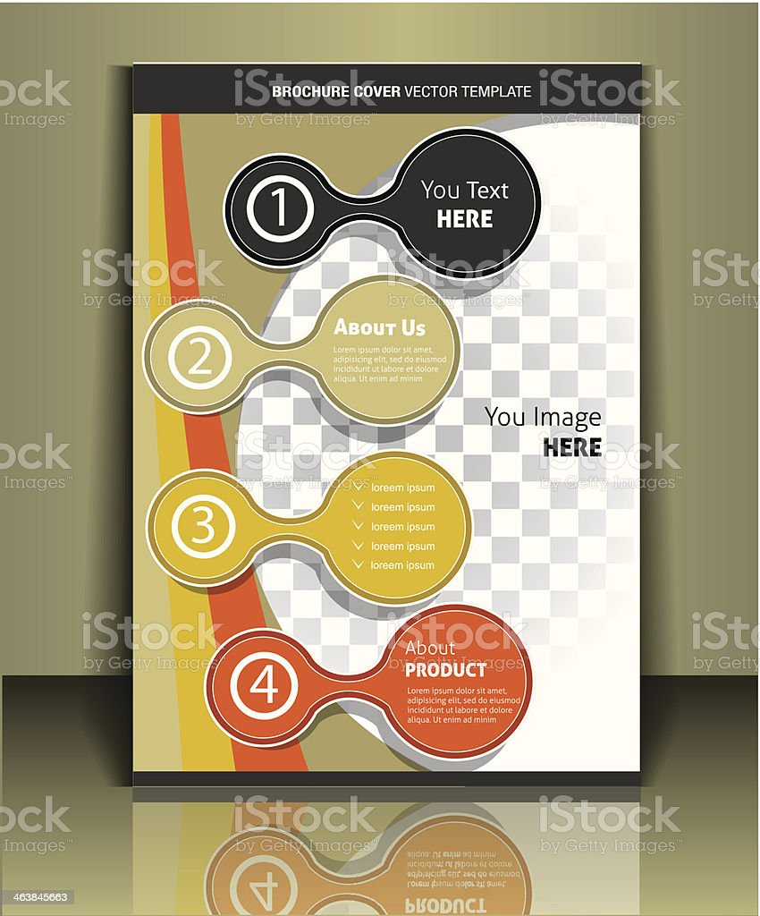 Vector brochure cover template royalty-free stock vector art
