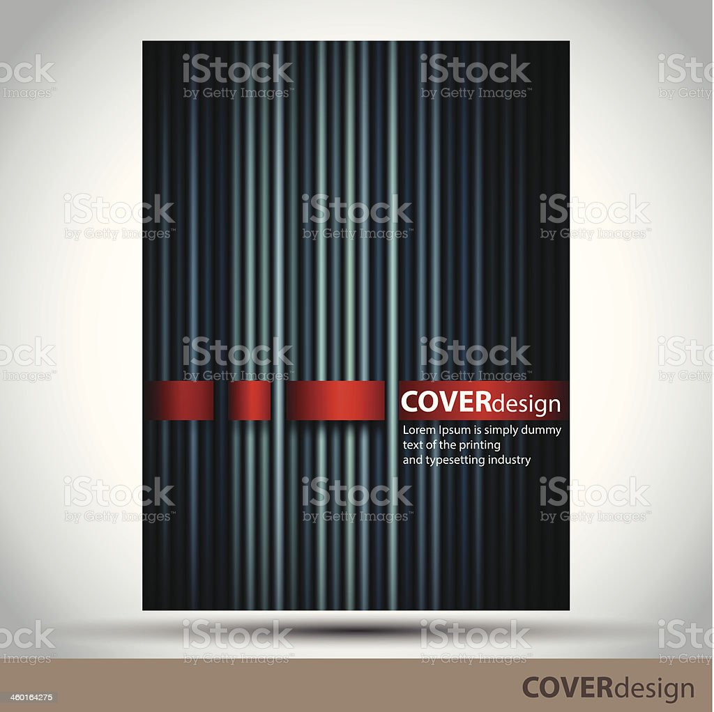 Vector brochure, flyer, cover design template with dark lines royalty-free stock vector art