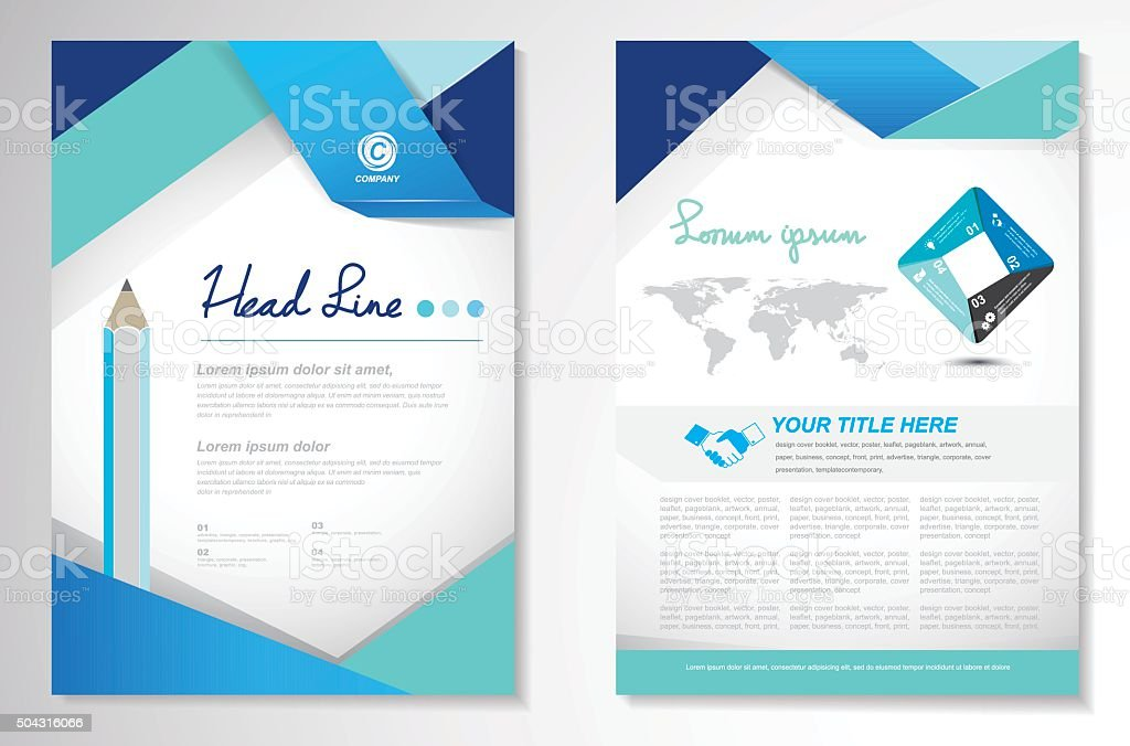 Vector Brochure Flyer design Layout template, size A4, Front pag vector art illustration