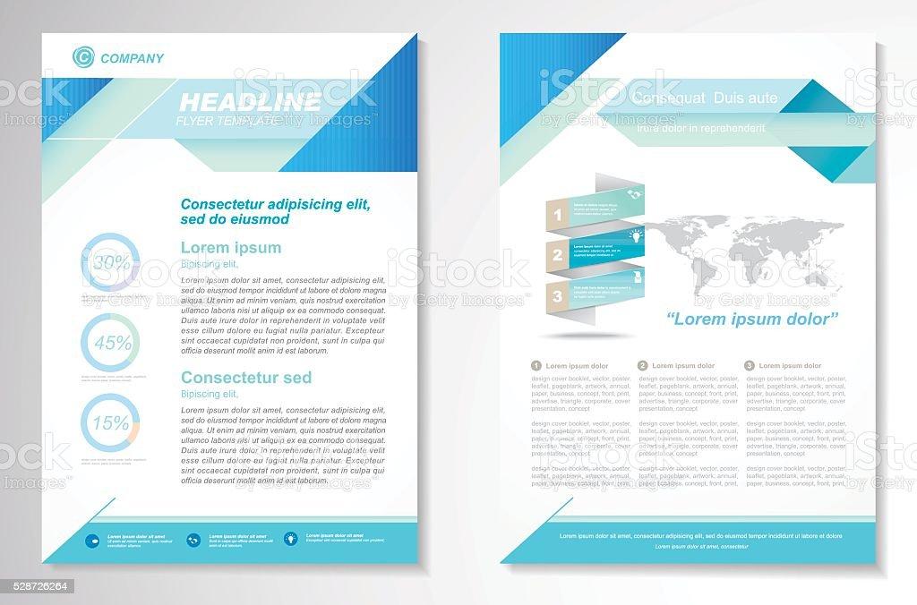 brochure flyer vettoriale progettazione modello di layout formato a4