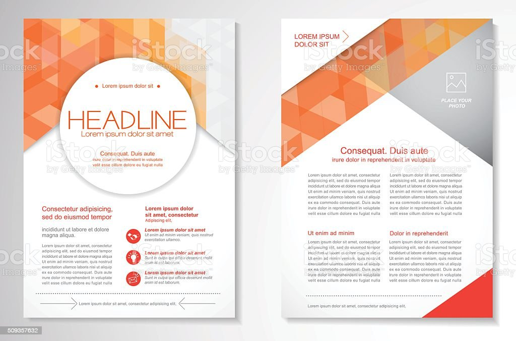 Vector Brochure Flyer design Layout template vector art illustration