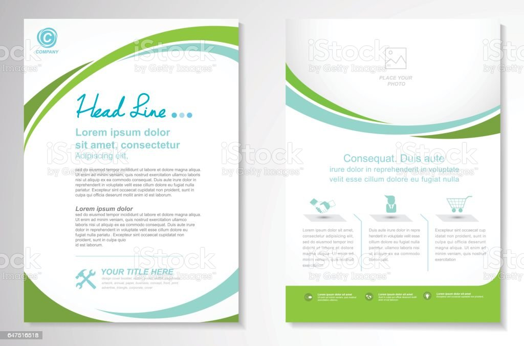 Vector Brochure Flyer design Layout template royalty-free stock vector art