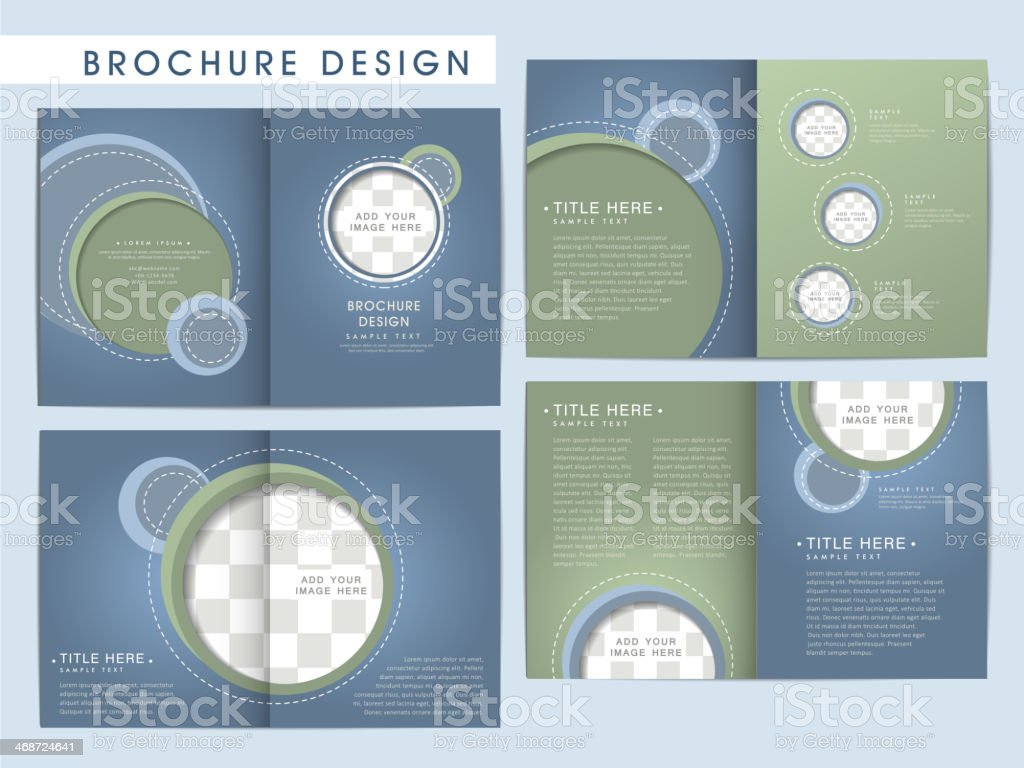 vector brochure layout design template vector art illustration