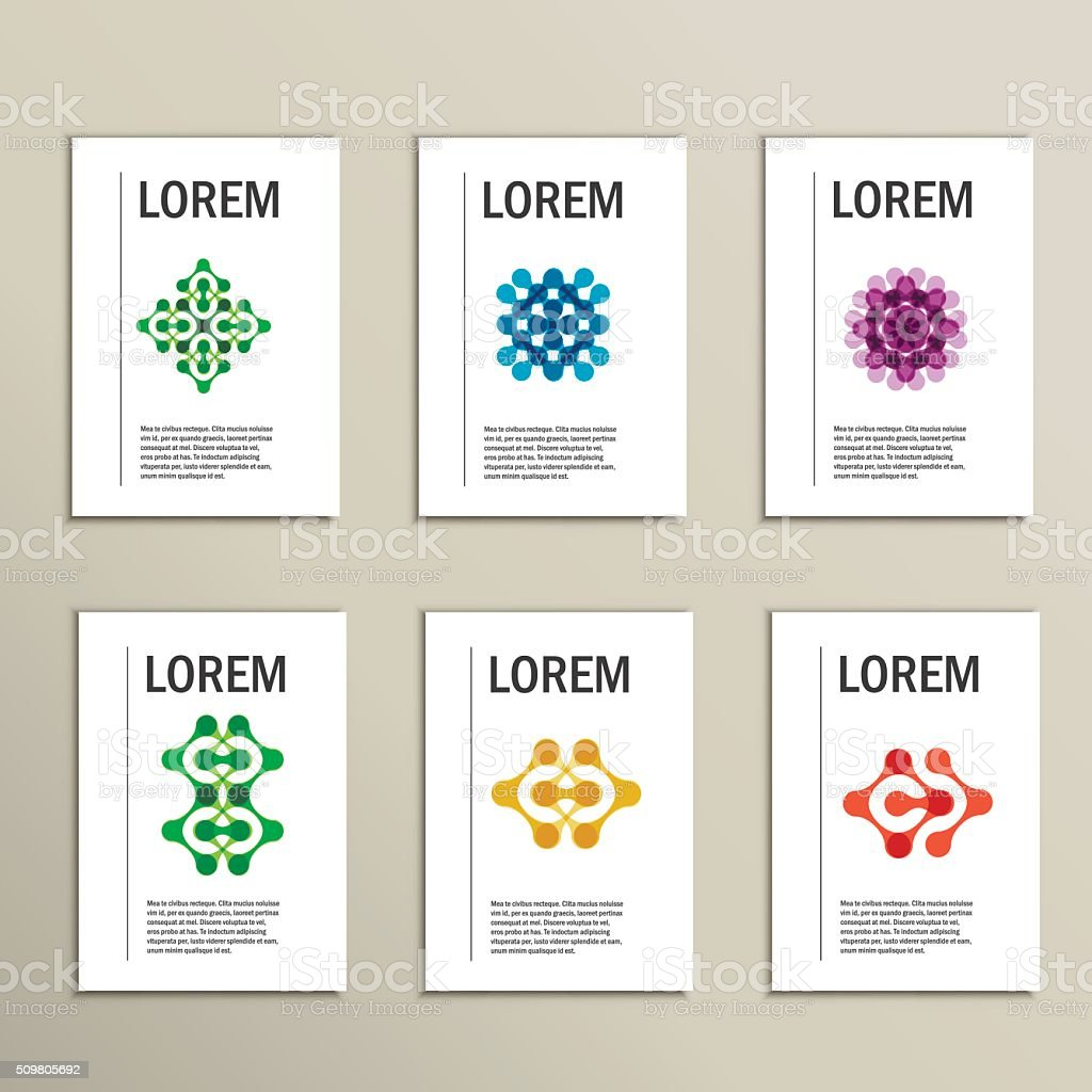 Vector brochures with abstract figures. Design pattern vector art illustration
