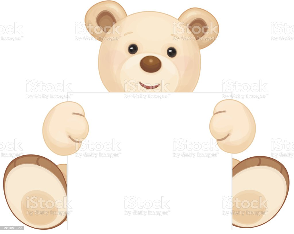 Vector brown bear. vector art illustration