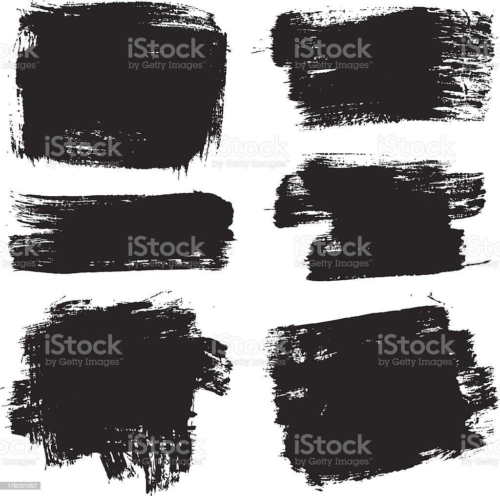 vector brush stroke elements vector art illustration
