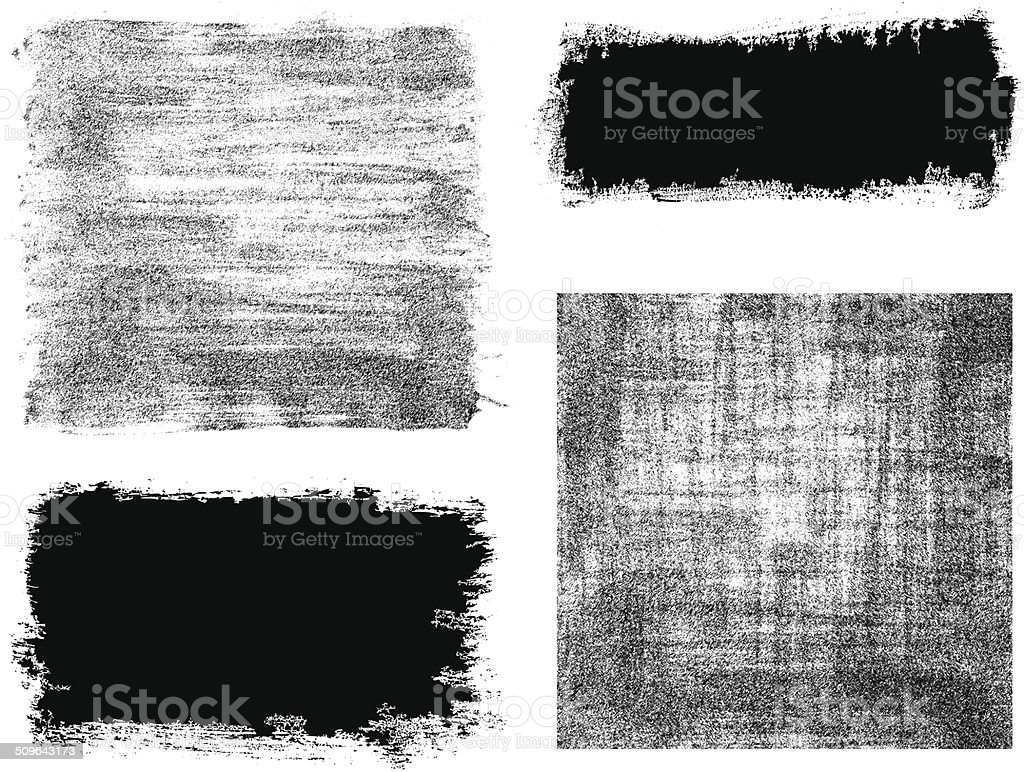 Vector brush stroke frame background textured vector art illustration