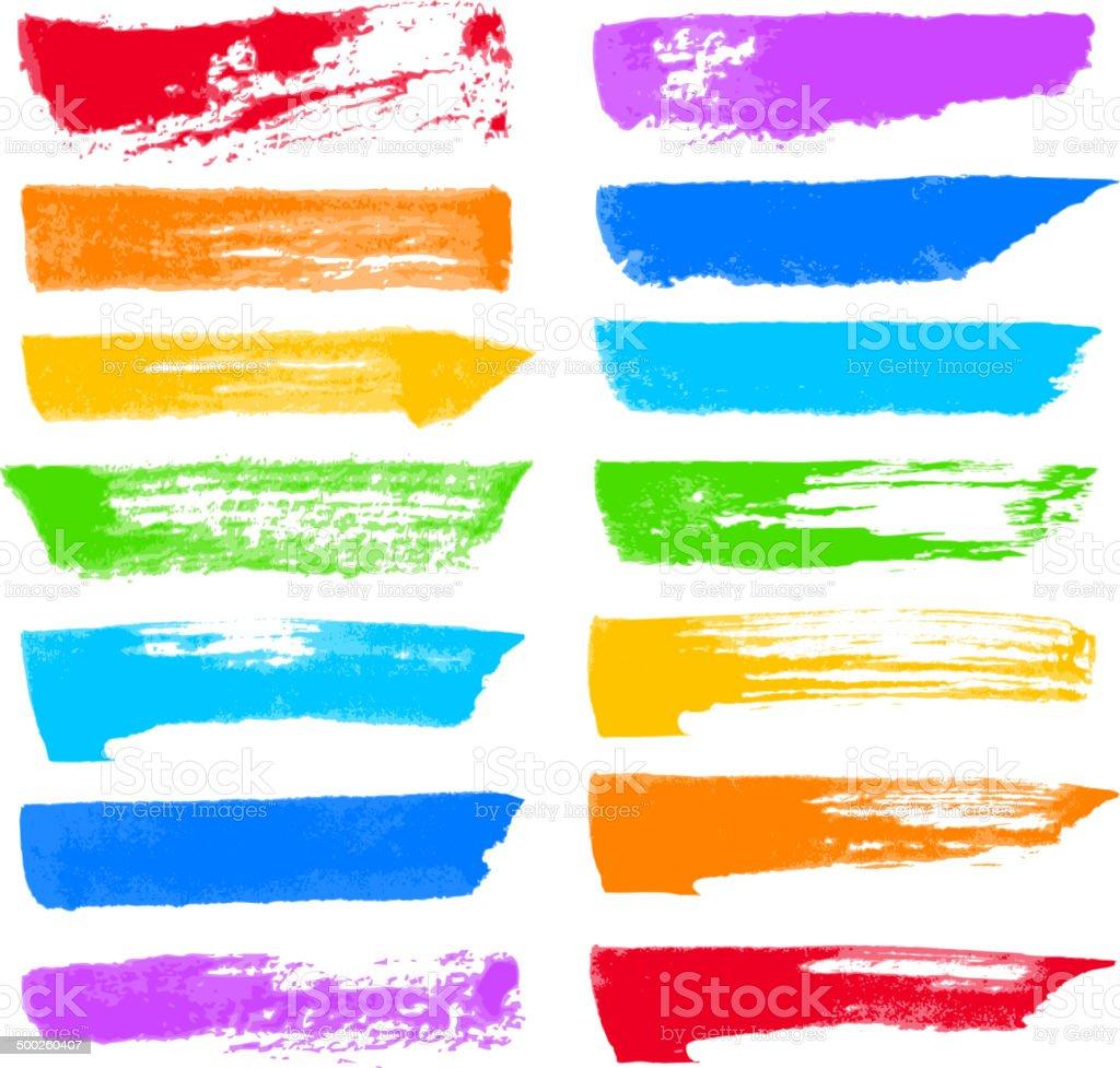 Vector brush strokes vector art illustration
