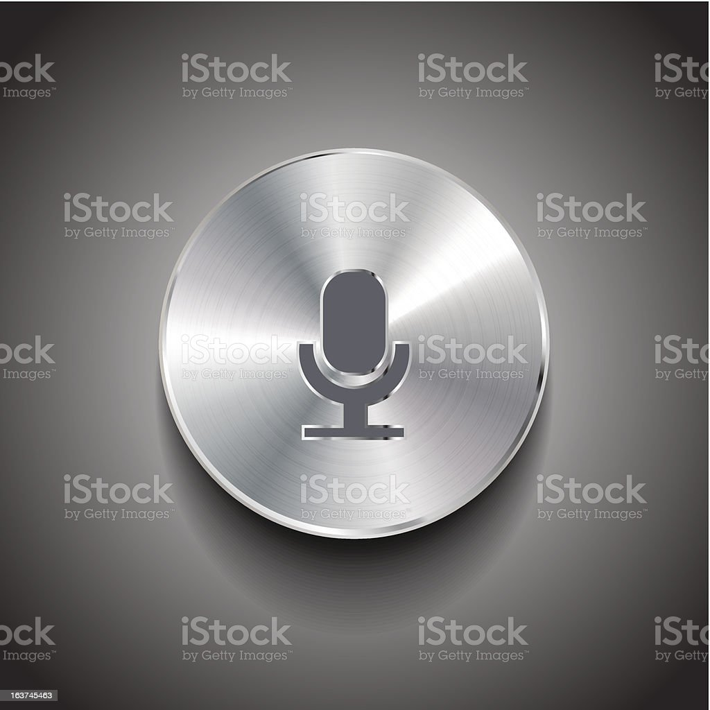 Vector brushed metal microcphone royalty-free stock vector art