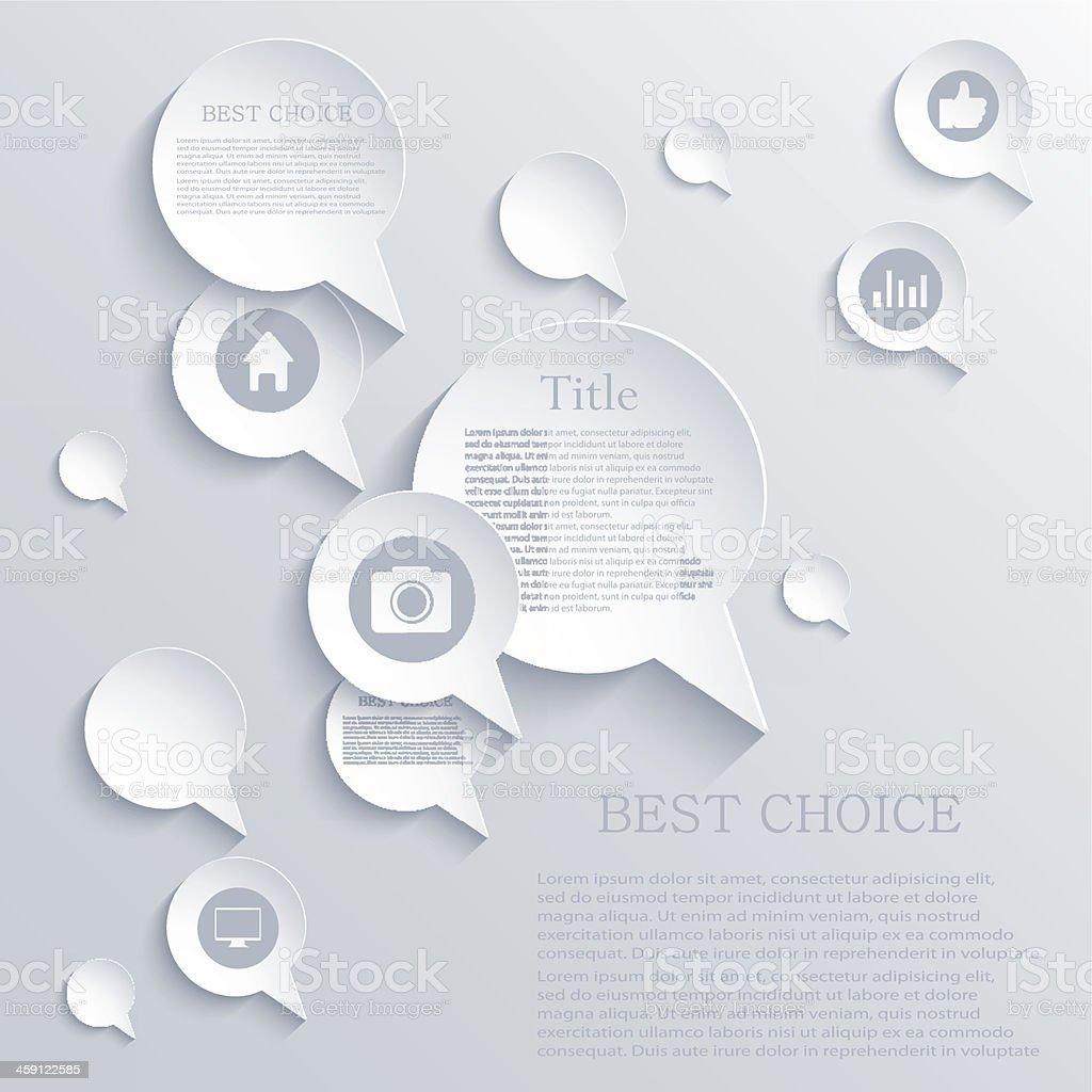 Vector bubble speech background. Eps10 royalty-free stock vector art