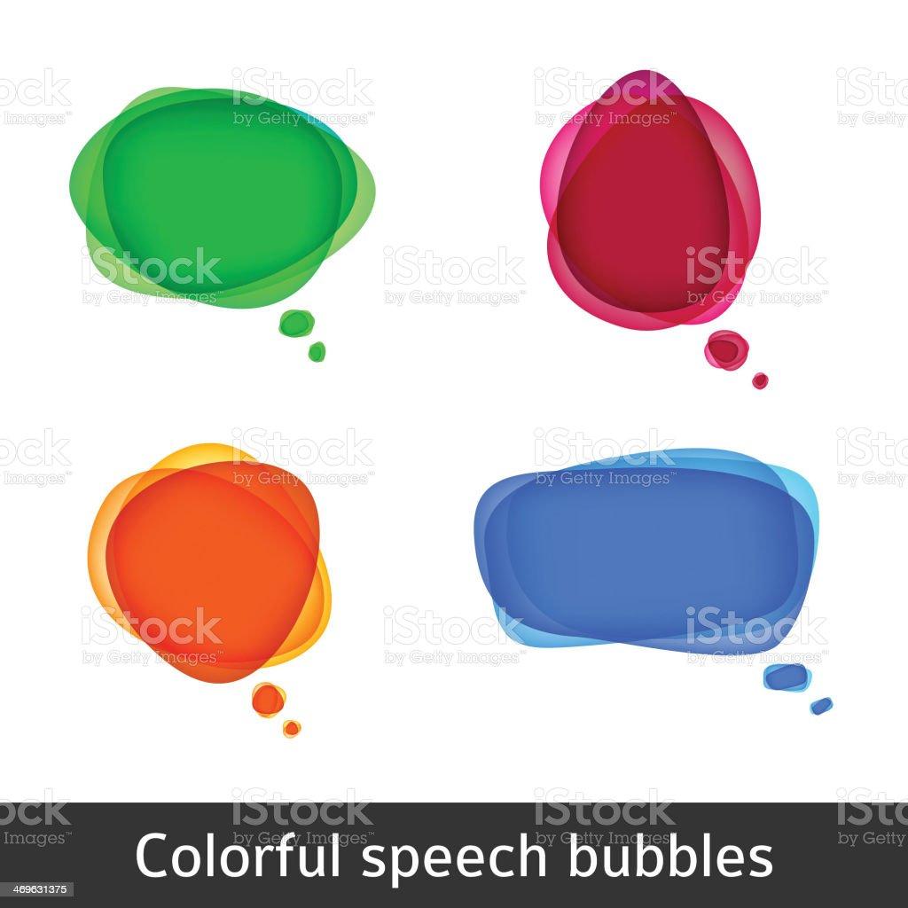 Vector bubbles for speech vector art illustration