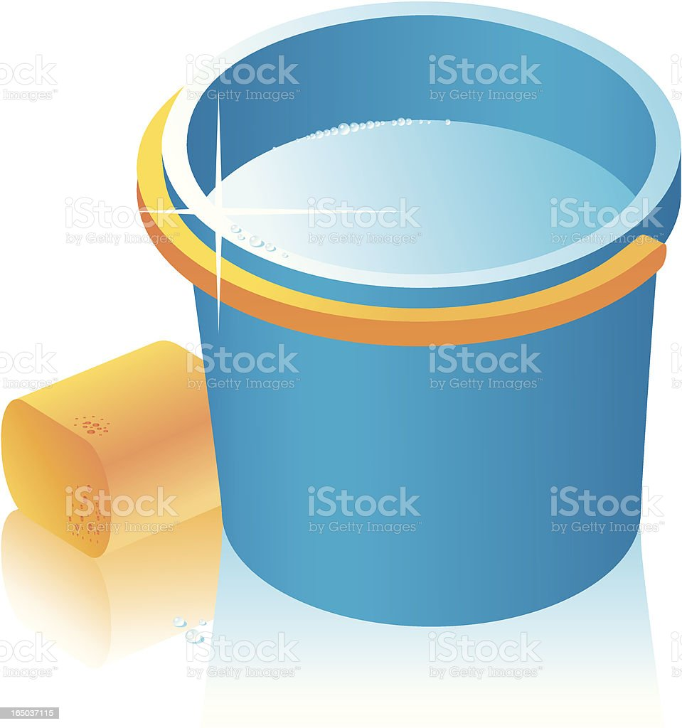 Vector Bucket and bast whisp. royalty-free stock vector art