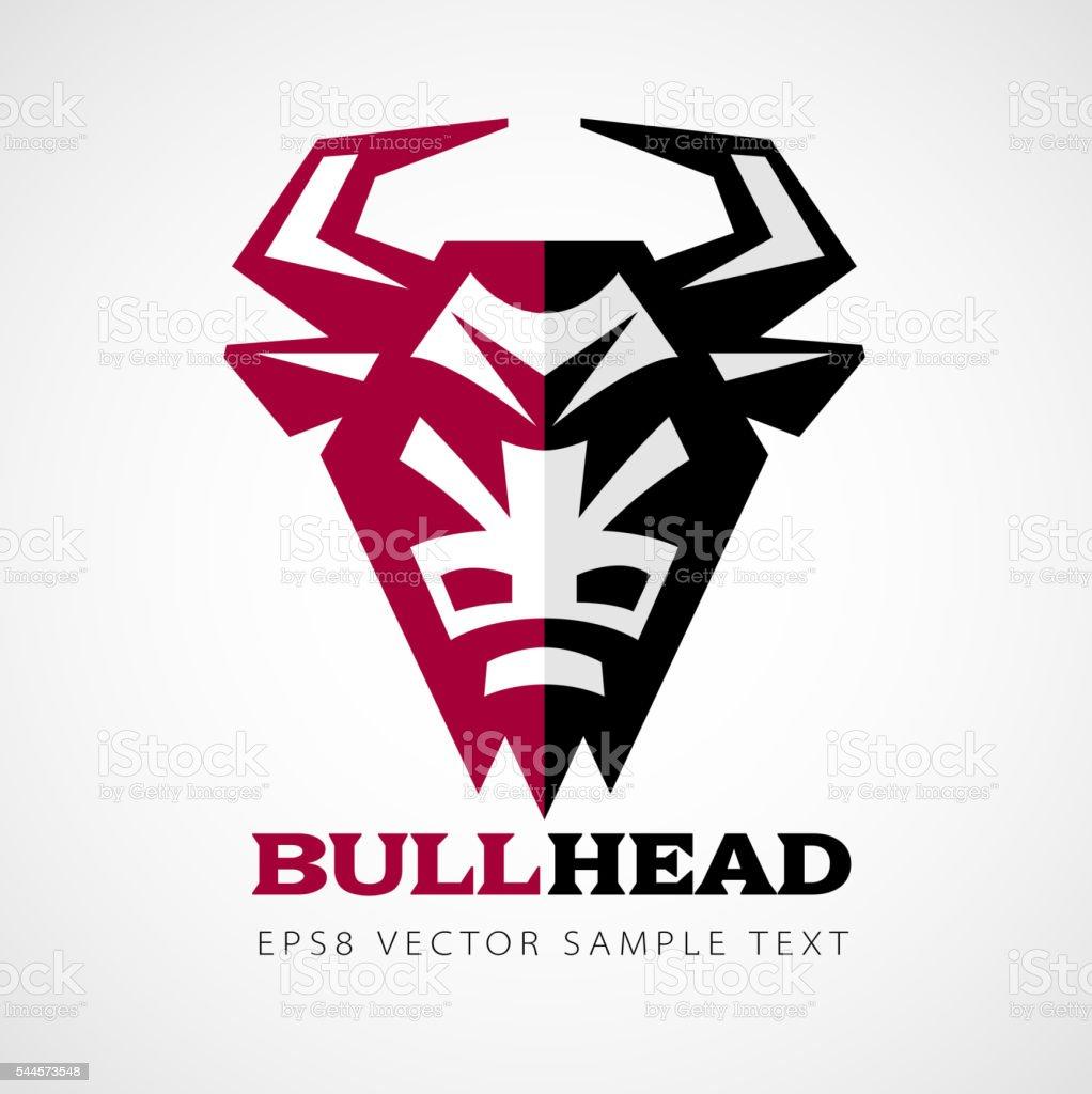 Vector bull head vector art illustration