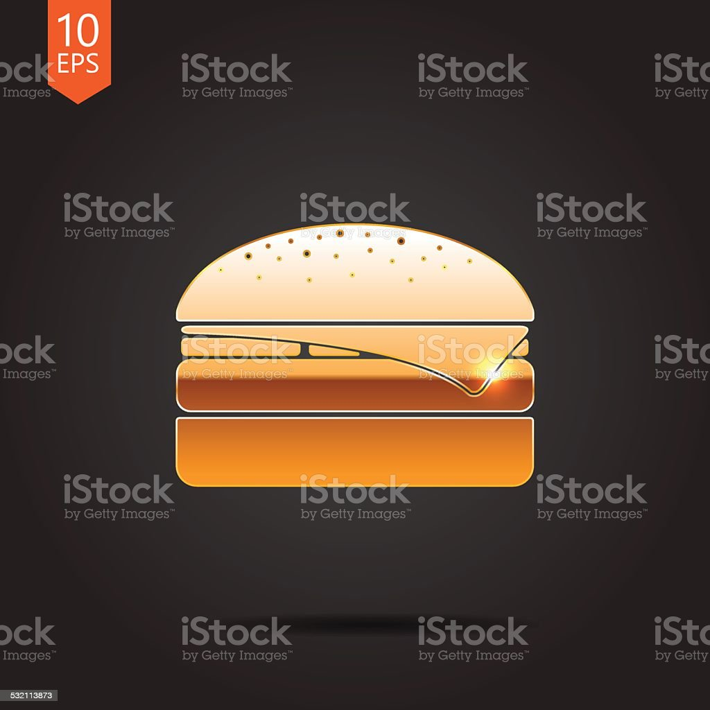 Vector burger icon. Eps10 vector art illustration