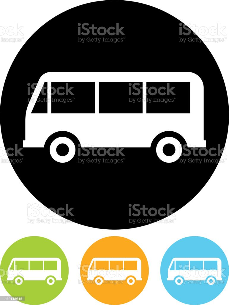Vector bus icon royalty-free stock vector art