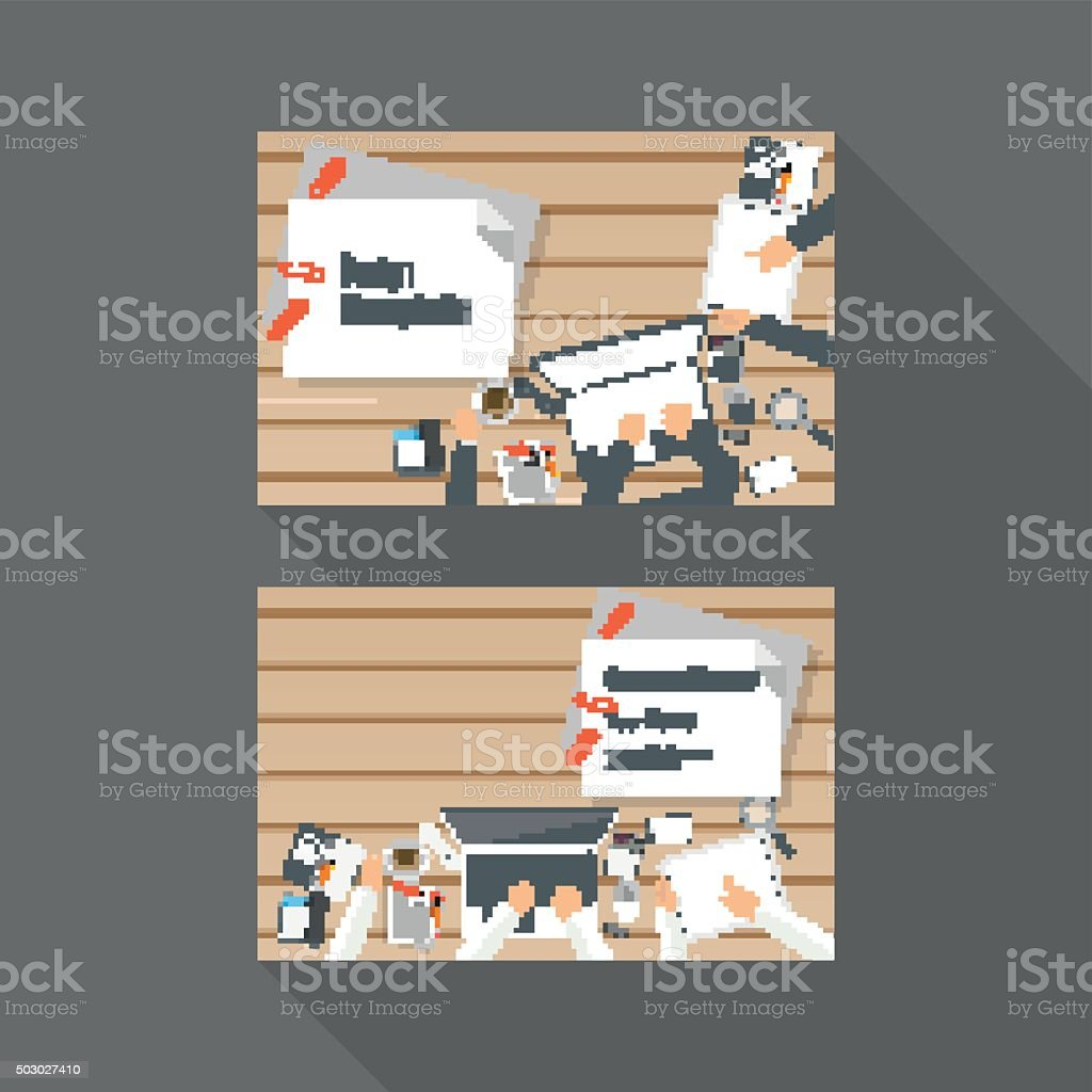 Vector Business card Design vector art illustration