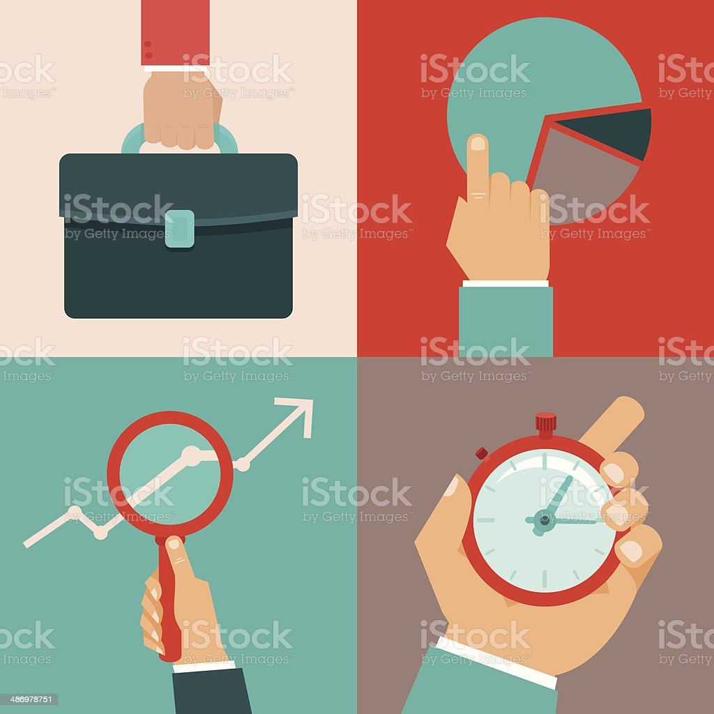 Vector business concepts in flat style vector art illustration