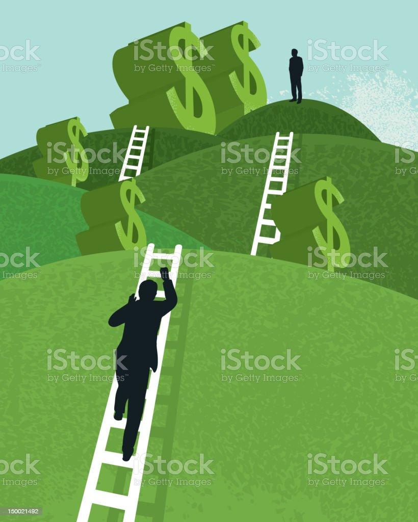 Vector business financial concept vector art illustration