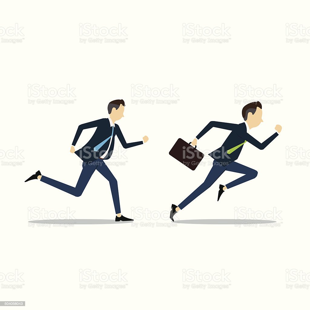 Vector business man competitive business vector art illustration