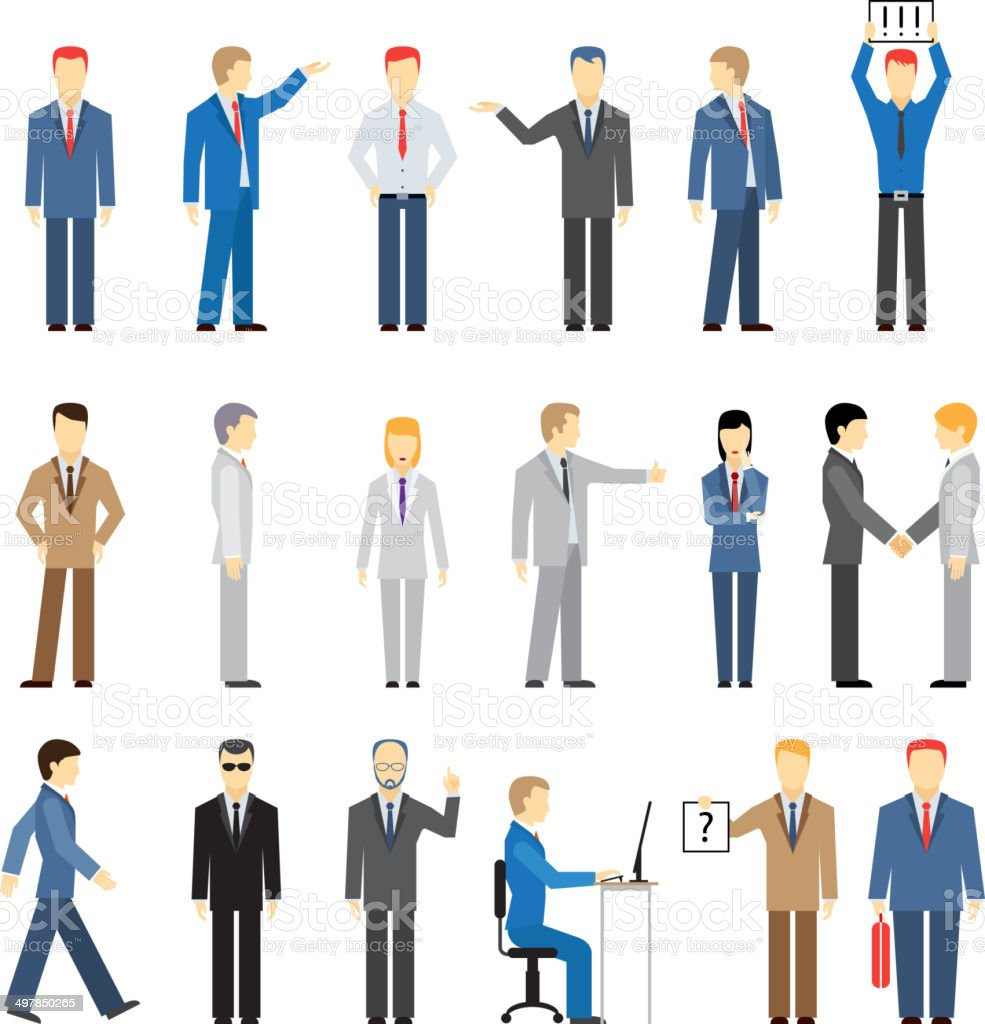 vector business peoples vector art illustration