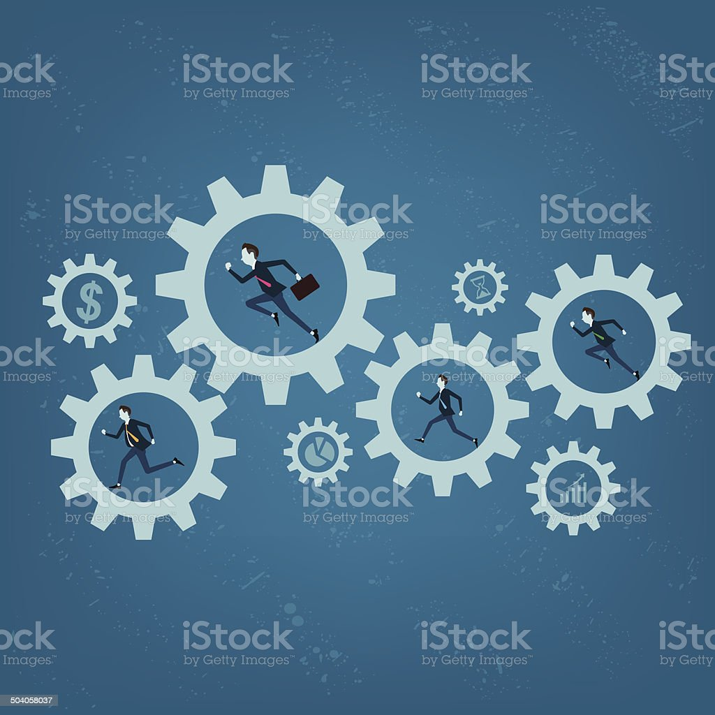 Vector business processing backgrounds vector art illustration
