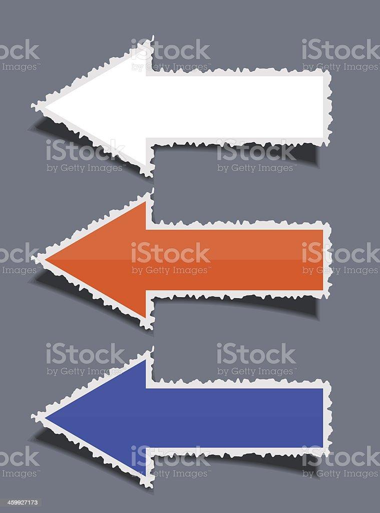 Vector business torn arrow set royalty-free stock vector art
