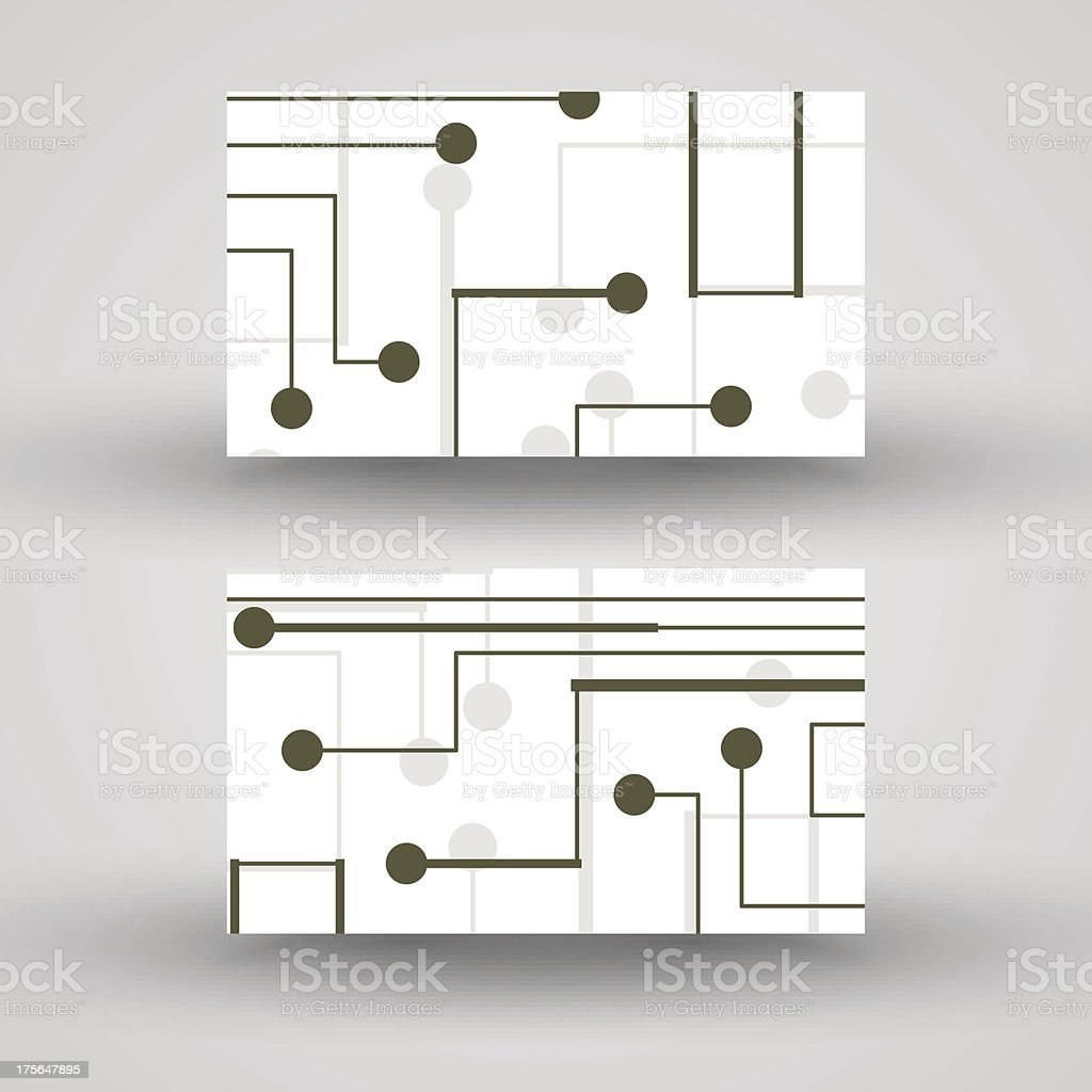 Vector business-card  set for your design royalty-free stock vector art