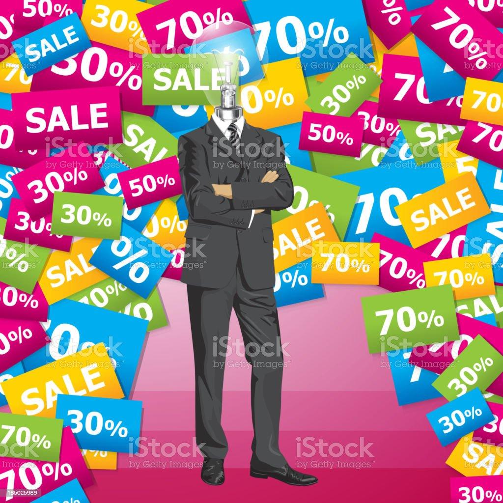 Vector Businessman In Suit royalty-free stock vector art