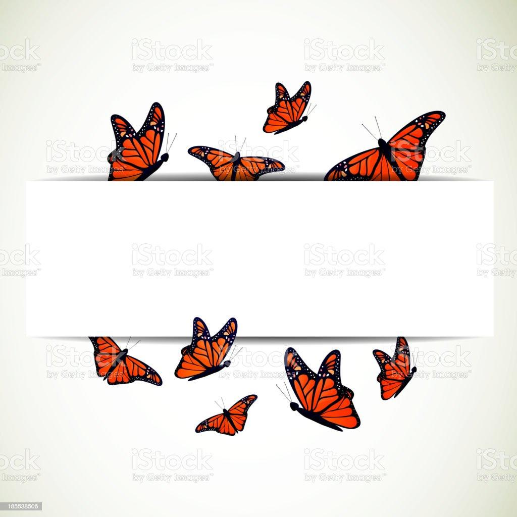 Vector Butterfly Background vector art illustration