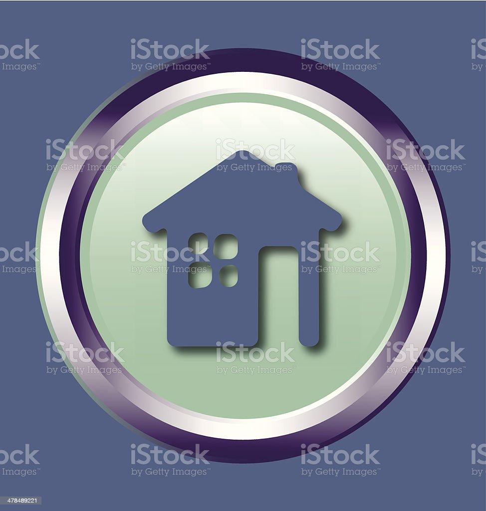 Vector button symbol eco house vector art illustration