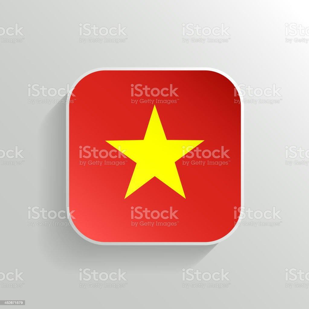 Vector Button - Vietnam Flag Icon royalty-free stock vector art