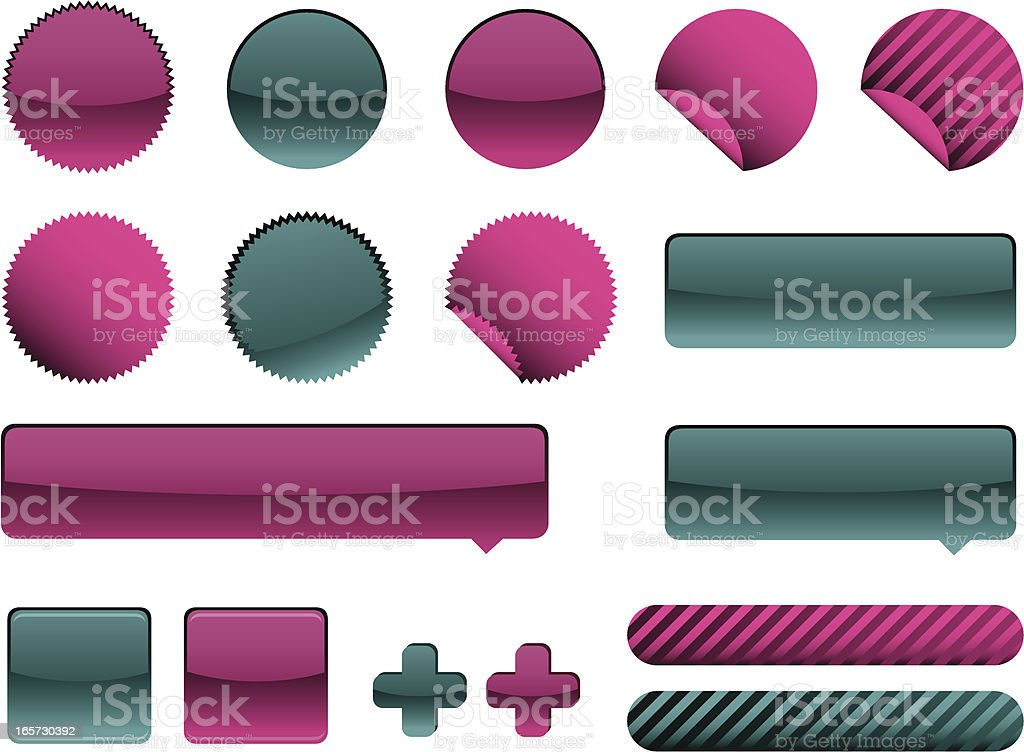 Vector buttons for web. royalty-free stock vector art