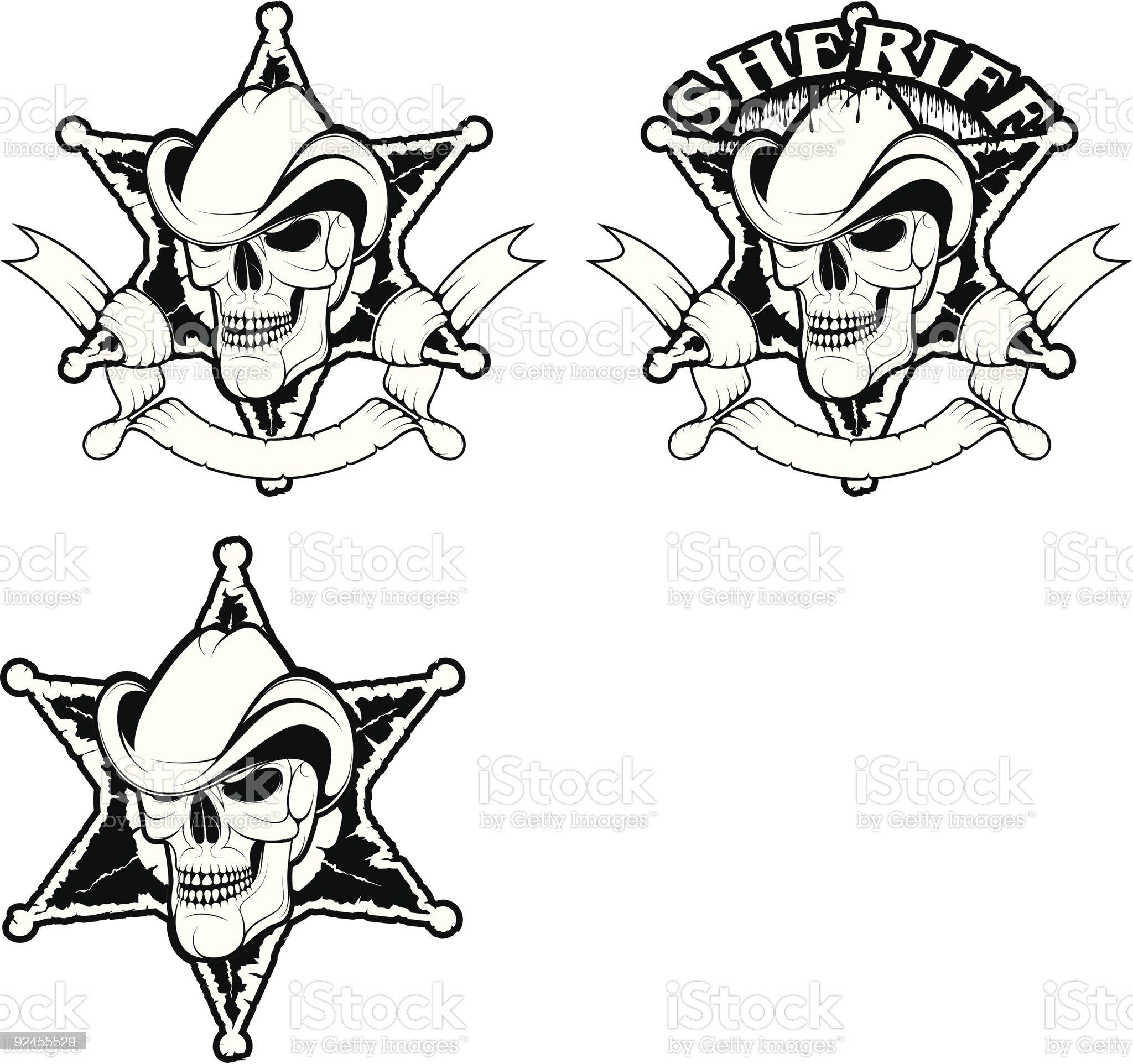 vector B&W skulls royalty-free stock vector art