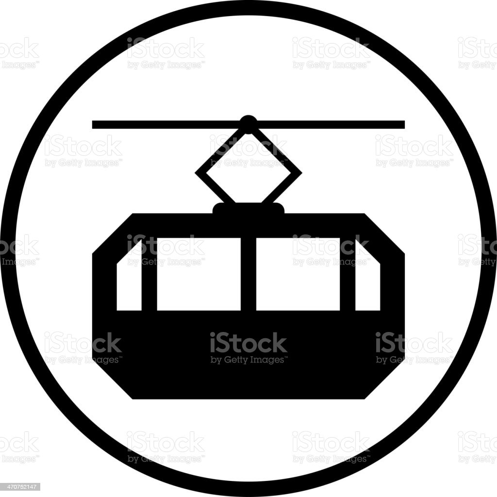 Vector cable car icon vector art illustration