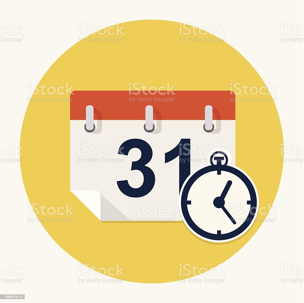 Vector calendar icon vector art illustration