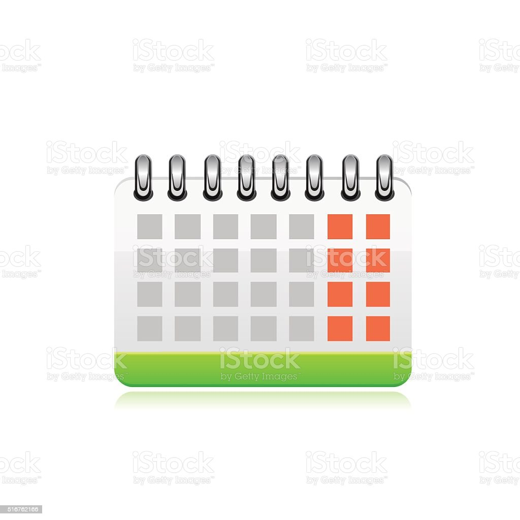 Vector calendar icon vector art illustration