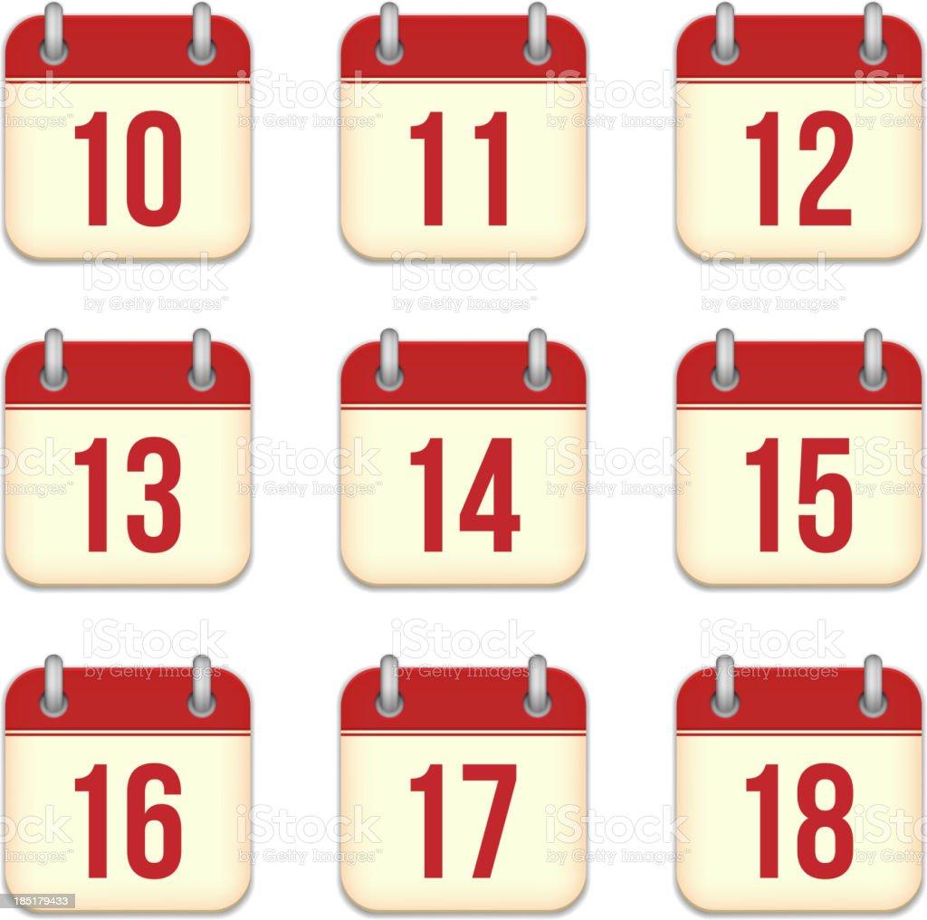 Vector calendar icons vector art illustration